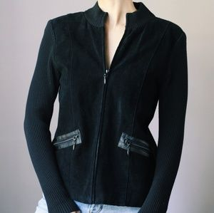 Vintage Genuine Suede Jacket/Cardigan Escapade